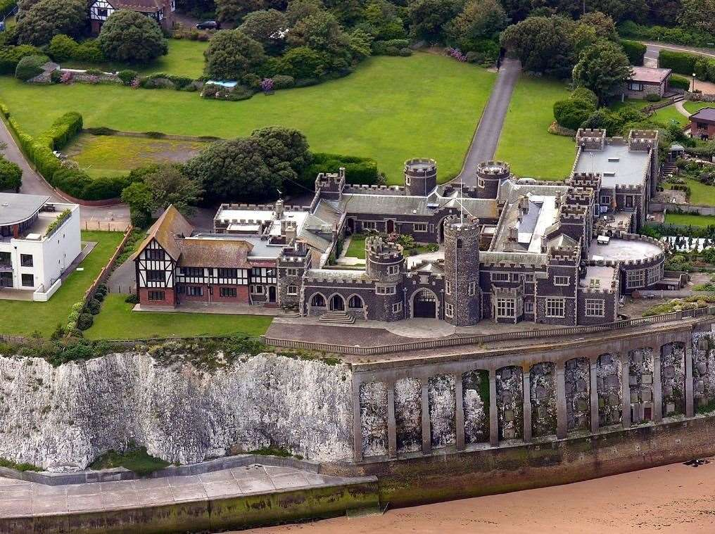 The three-bed flat, is in a castle which was previously an upmarket hotel in the 1930s. Picture: Zoopla