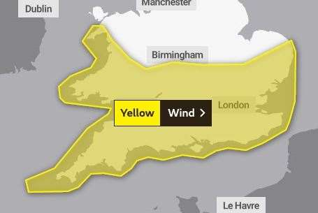 Storms are set to lash Kent from tomorrow
