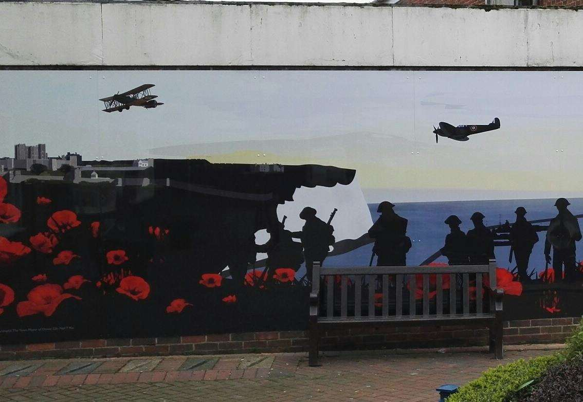 Dover's mural for the First World War centenary