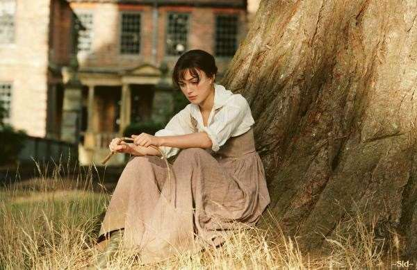 Keira Knightley filming Pride and Prejudice at Groombridge Place