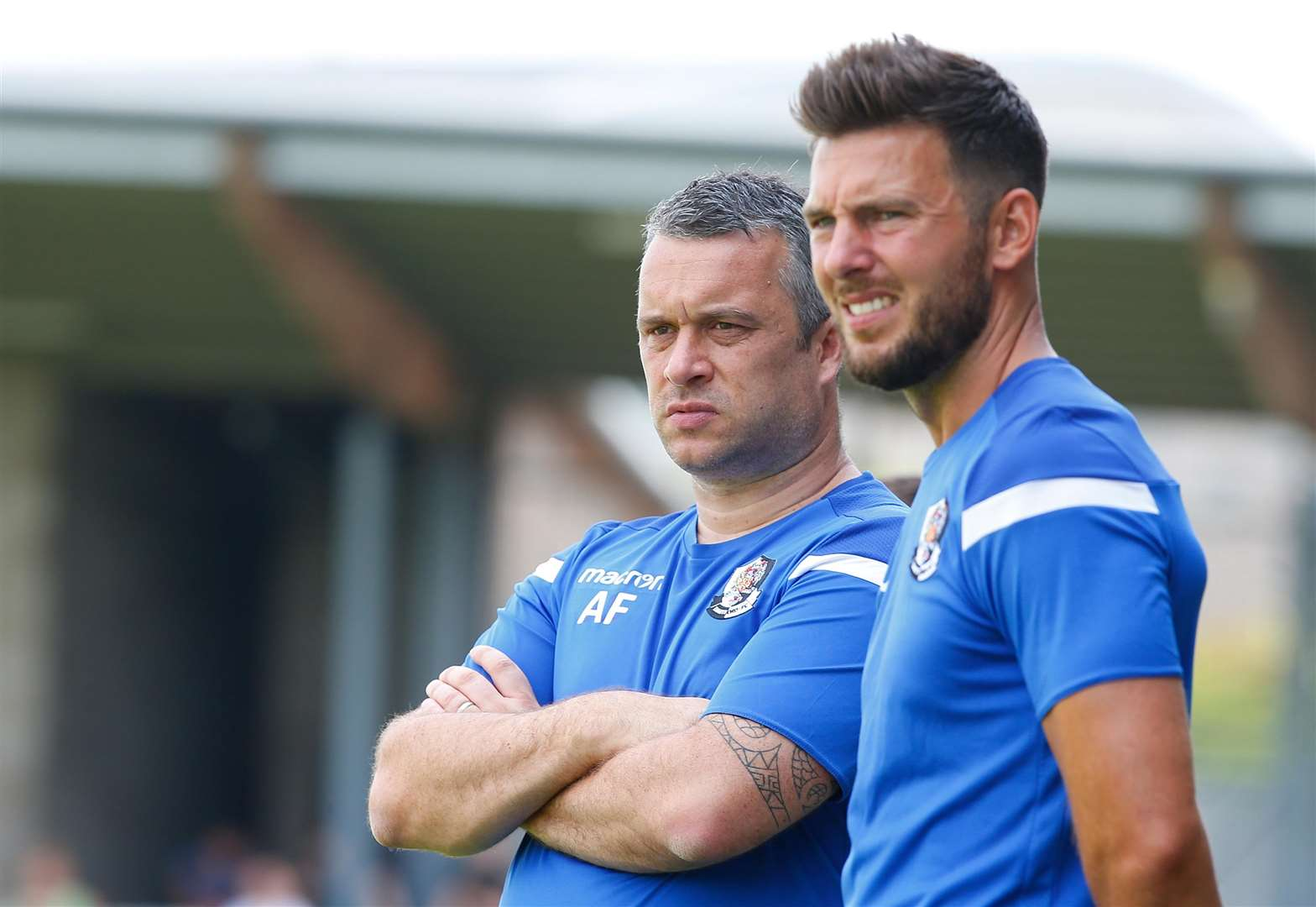 Dartford joint-managers Adam Flanagan and Jamie Coyle Picture: Andy Jones