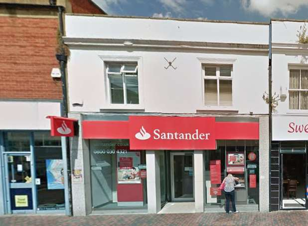 Santander in Sittingbourne High Street