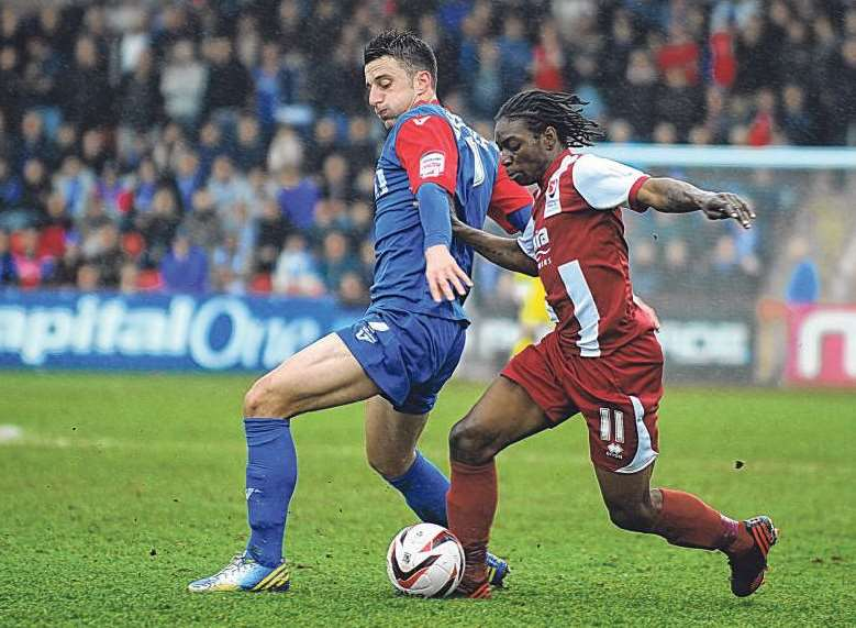 New Gills signing Jermaine McGlashan in action for Cheltenham Picture: Barry Goodwin