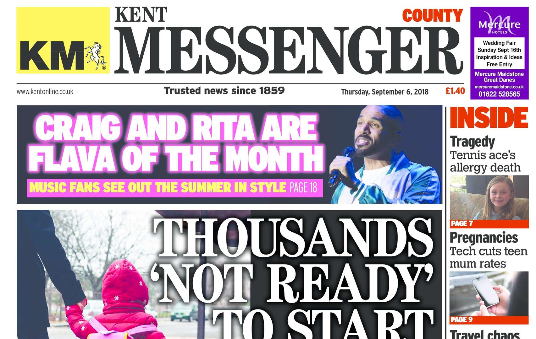 The first edition of the county edition of the Kent Messenger is available now