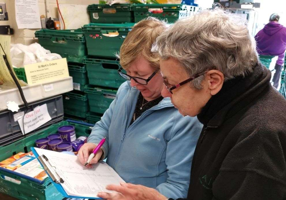 More than 150 volunteers work across the eight food bank centres in Medway