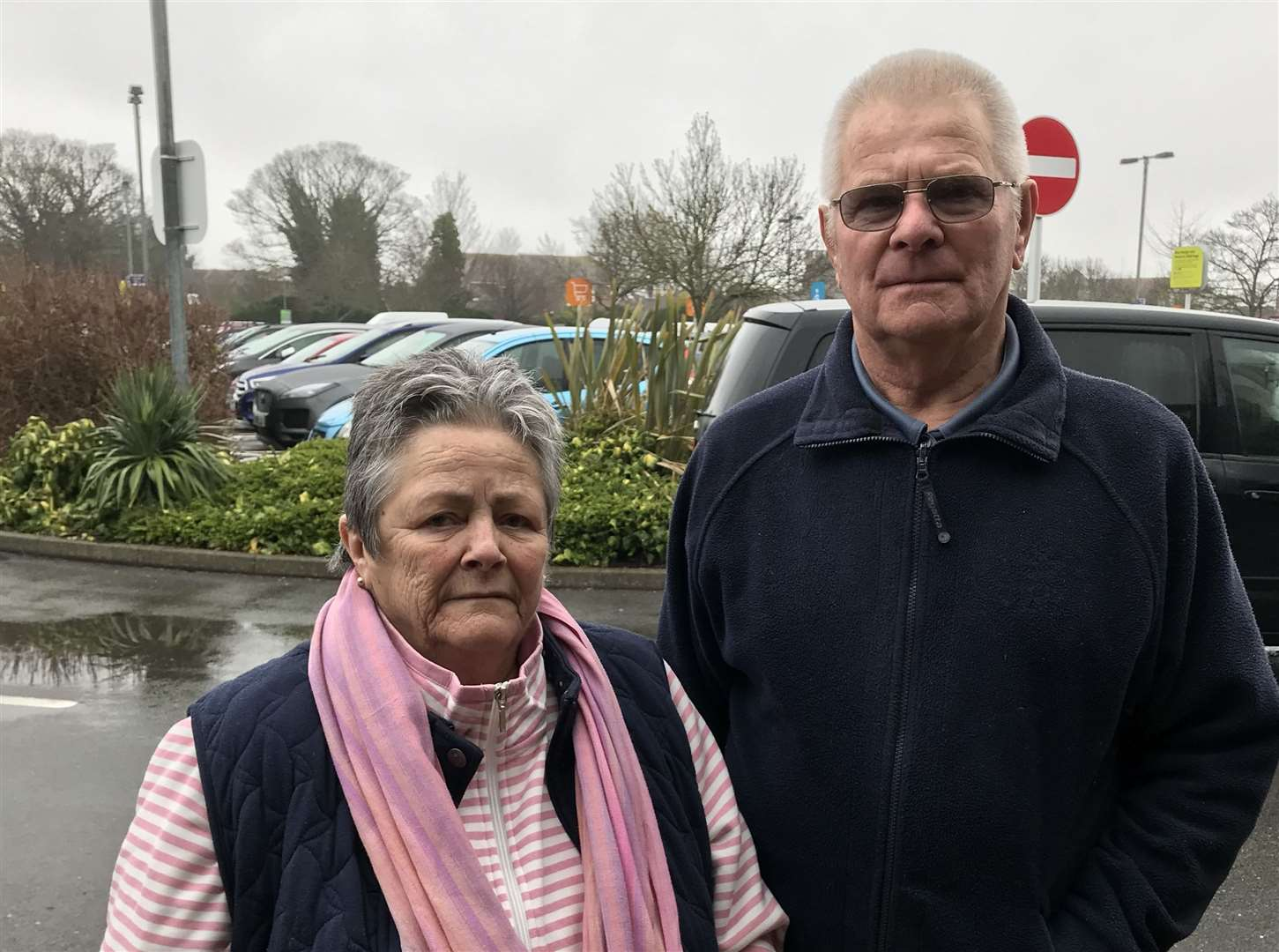 Miriam and Chris Riddles of Bay View, Sheppey, left Sainsbury's empty-handed (31943182)