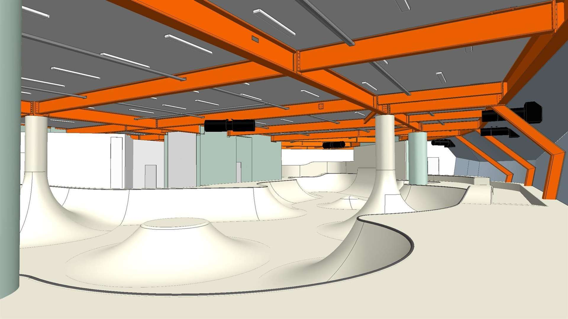 Concept art of the flow level. Pictures: Cambian Action Sports