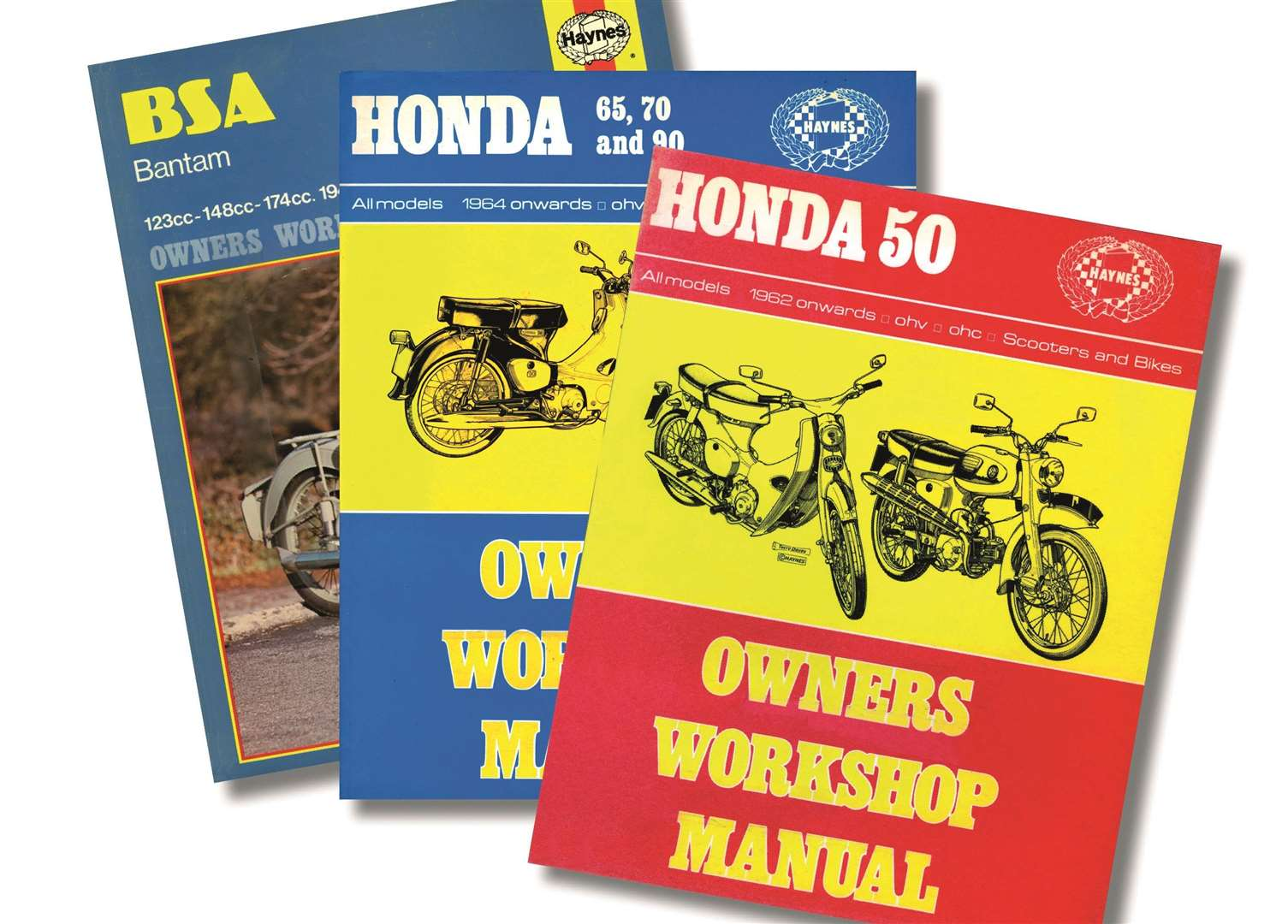 Early Haynes motorcycle manuals