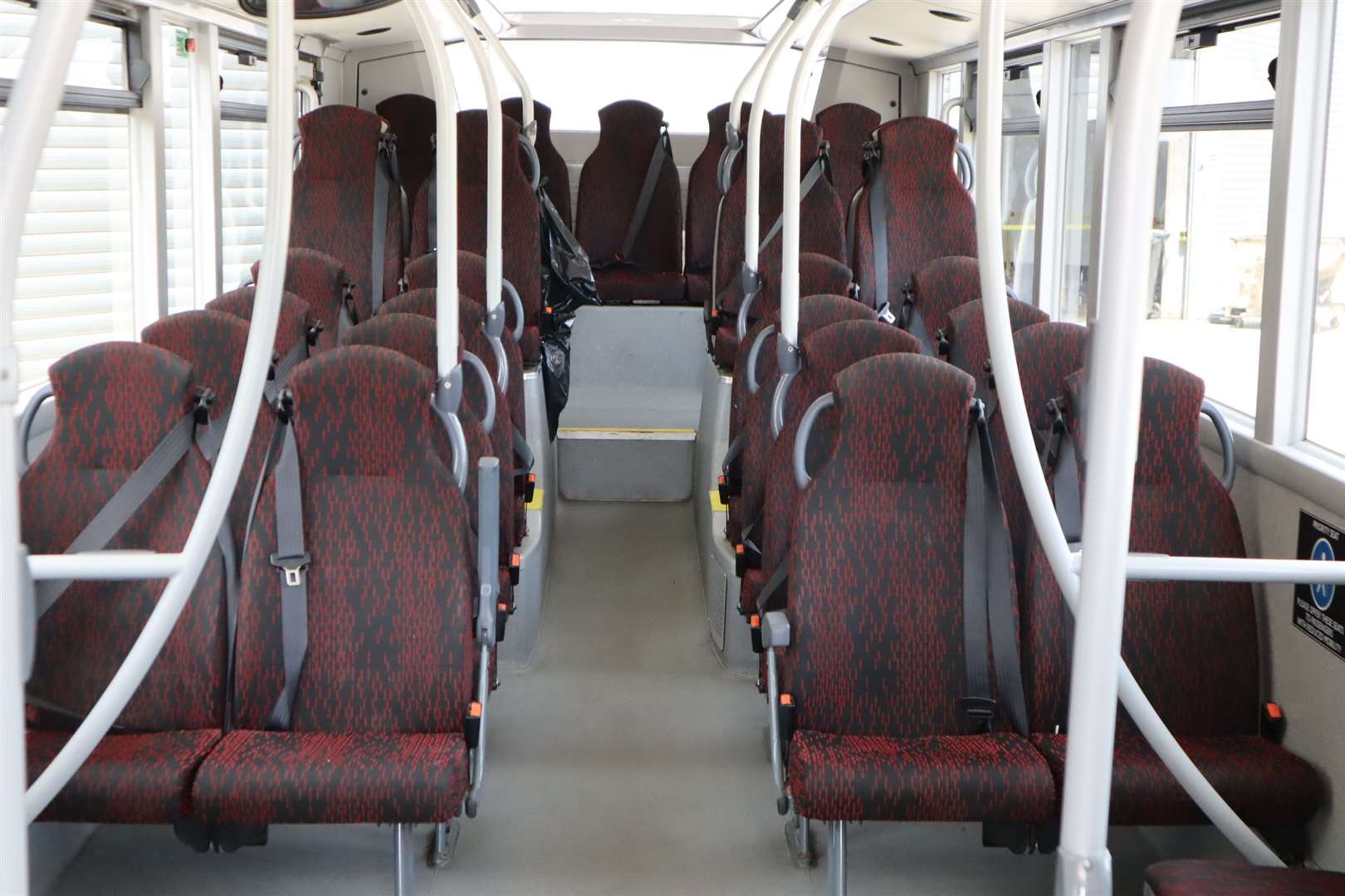 Inside a Travelmasters bus