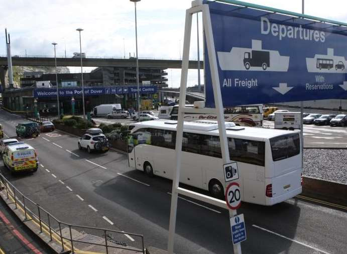 High levels of traffic are expected to pass through the Port of Dover due to closure of the Channel Tunnel