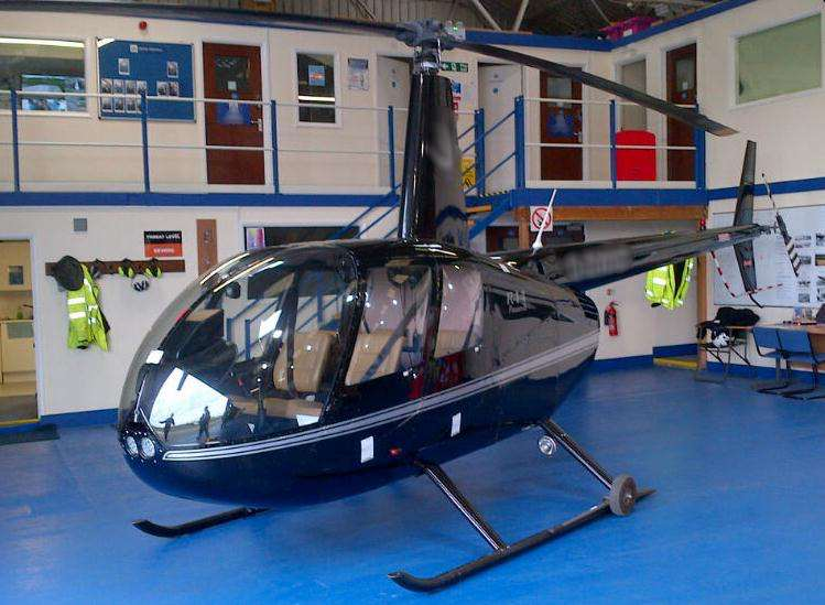 The helicopter used. Picture: National Crime Agency