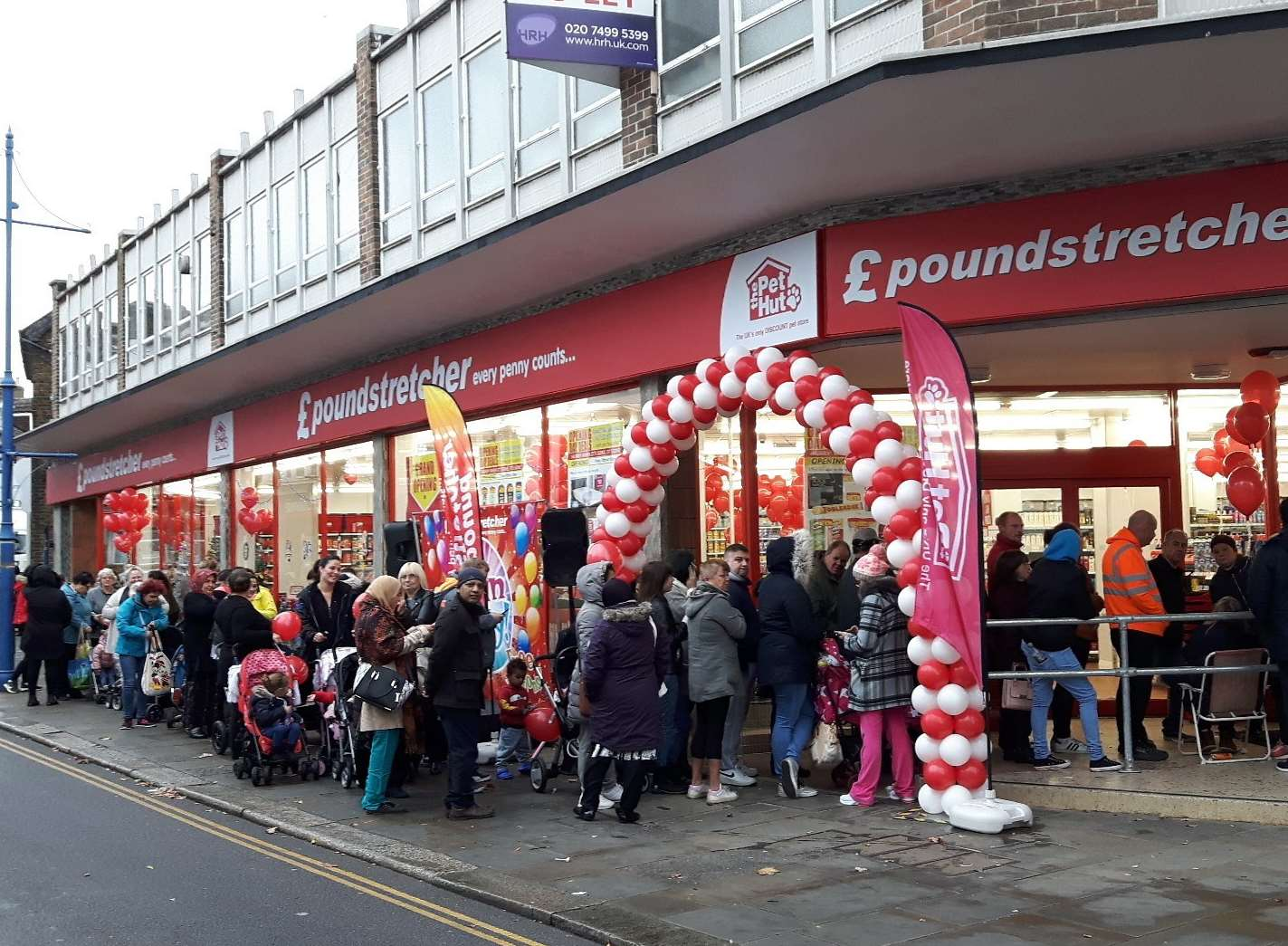 Hundreds queued outside Poundstretcher when it opened in Sheerness