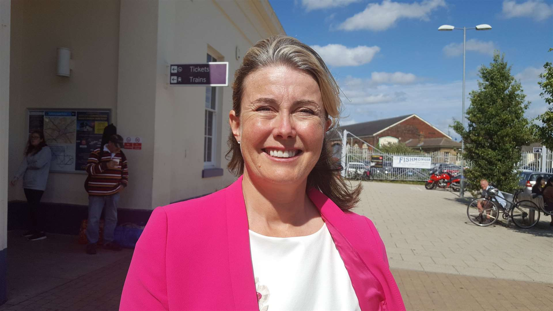 Canterbury's Conservative parliamentary candidate Anna Firth points out the bookies still have her as favourite