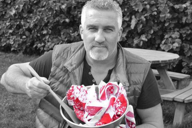 Great British Bake Off's Paul Hollywood cooking up bandanas for Bandana Day.