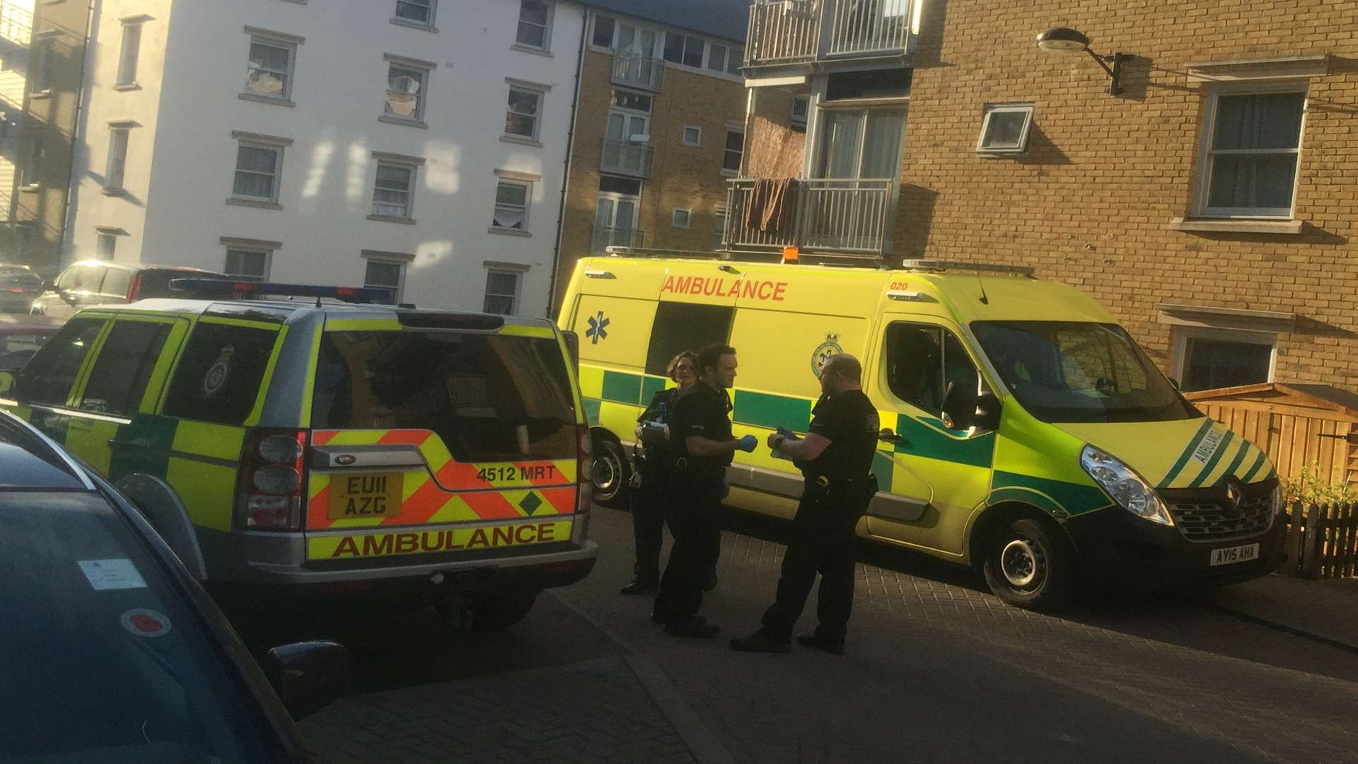 Ambulances at the scene in St Andrew's Close. Picture: Alex Claridge