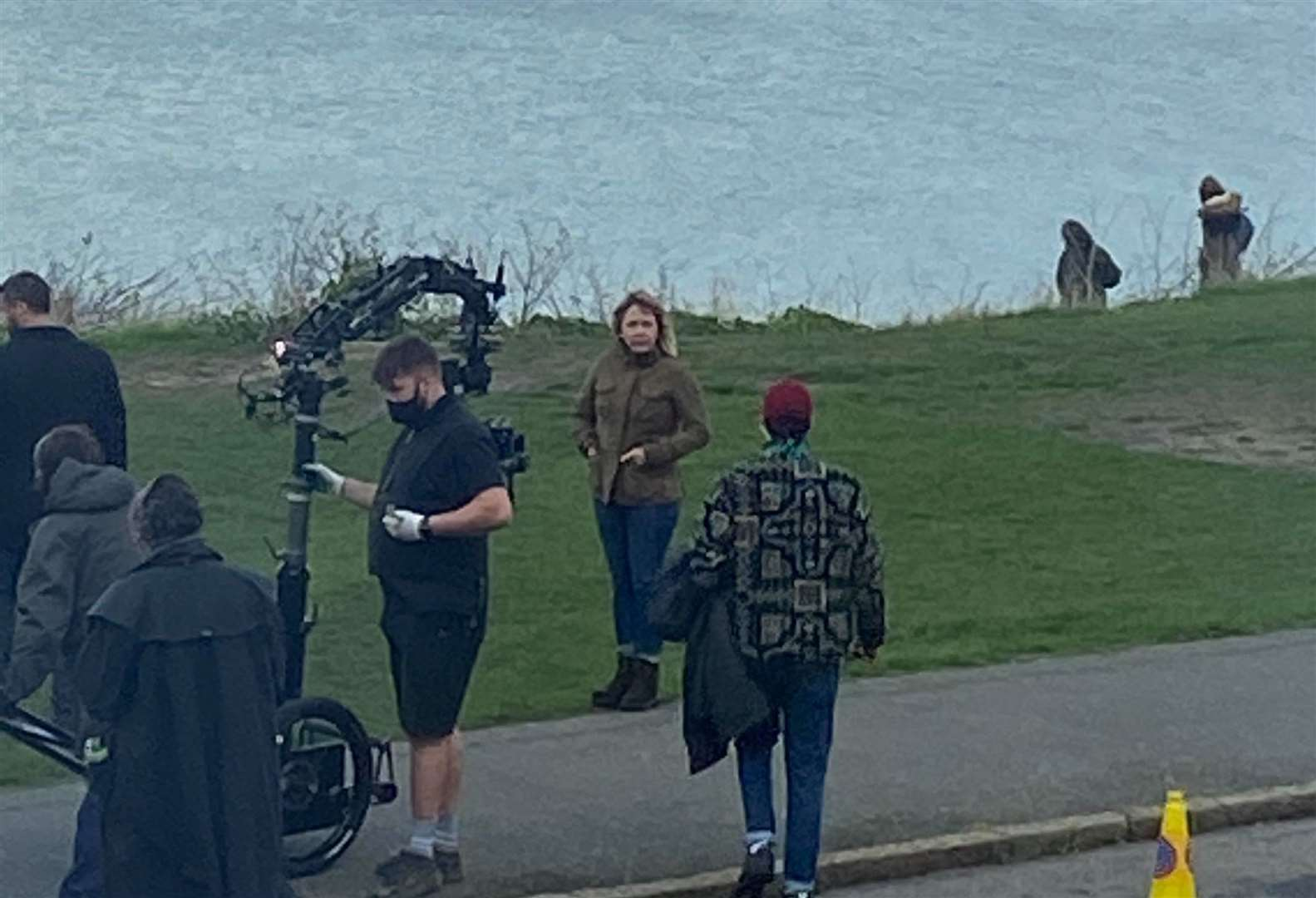 Kerry Godliman filming a new series in Tankerton based on Julie Wassmer's books. Picture: Katie Blake