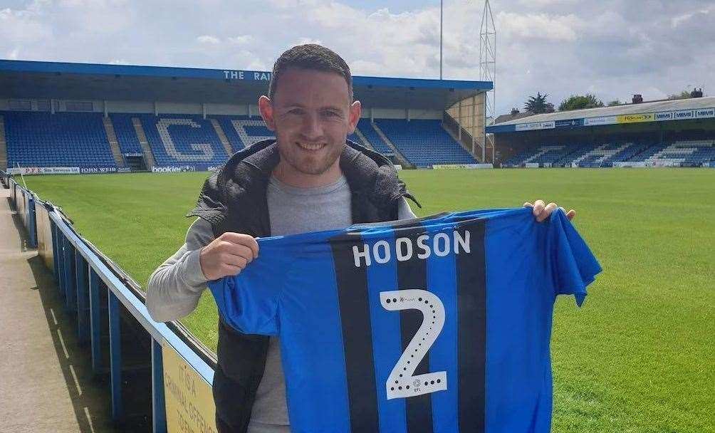 Summer signing Lee Hodson with a Gillingham shirt Picture: Gillingham FC