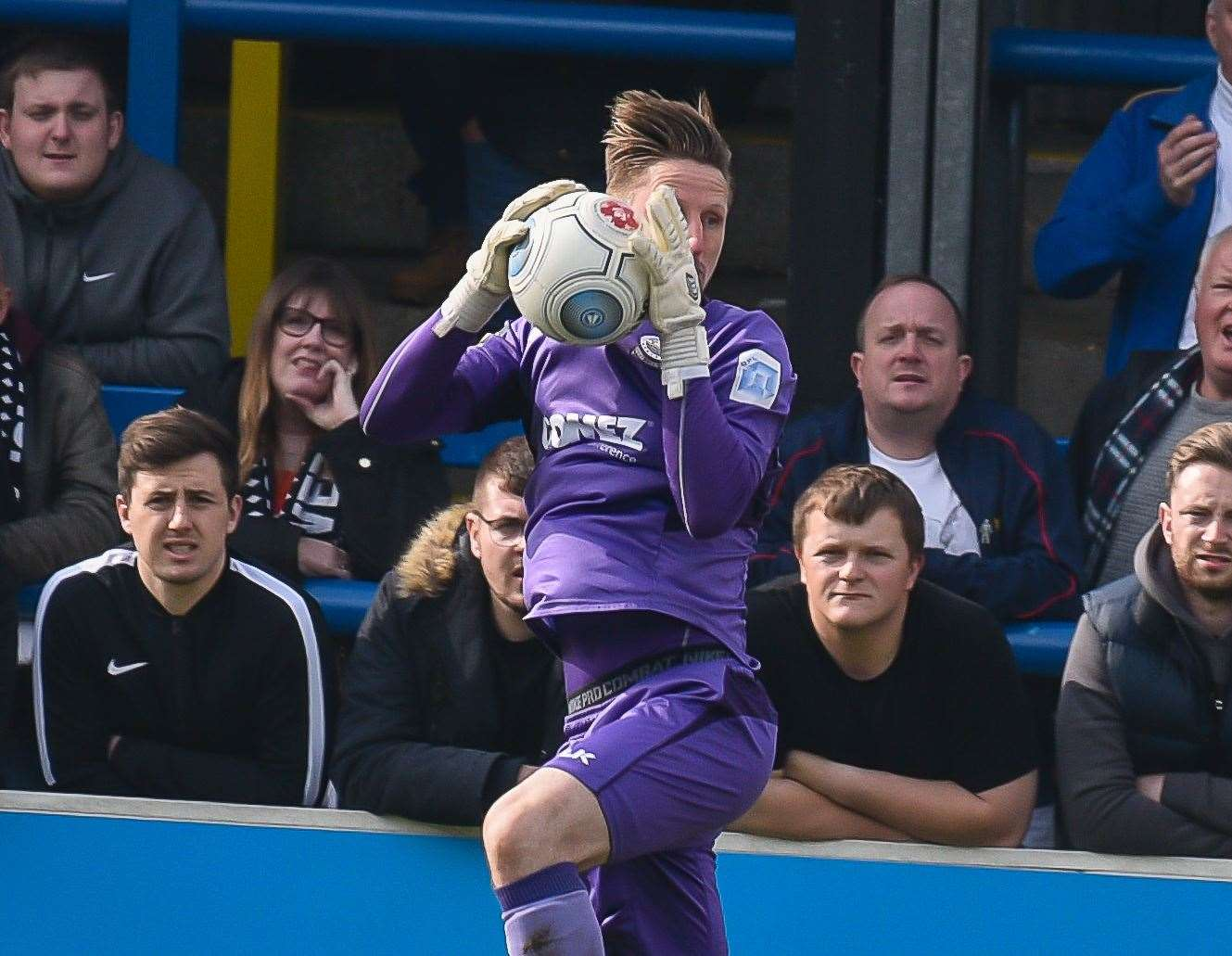 Safe hands from Lee Worgan against Chesterfield Picture: Alan Langley