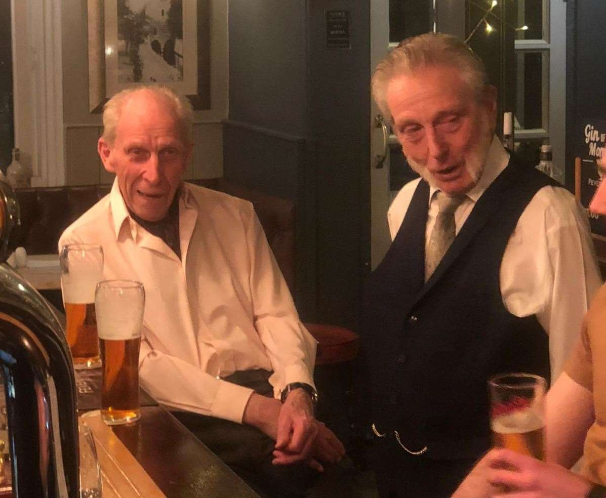 Tony and Bob say they cannot wait to be able to safely enjoy a pint at the Two Sawyers again