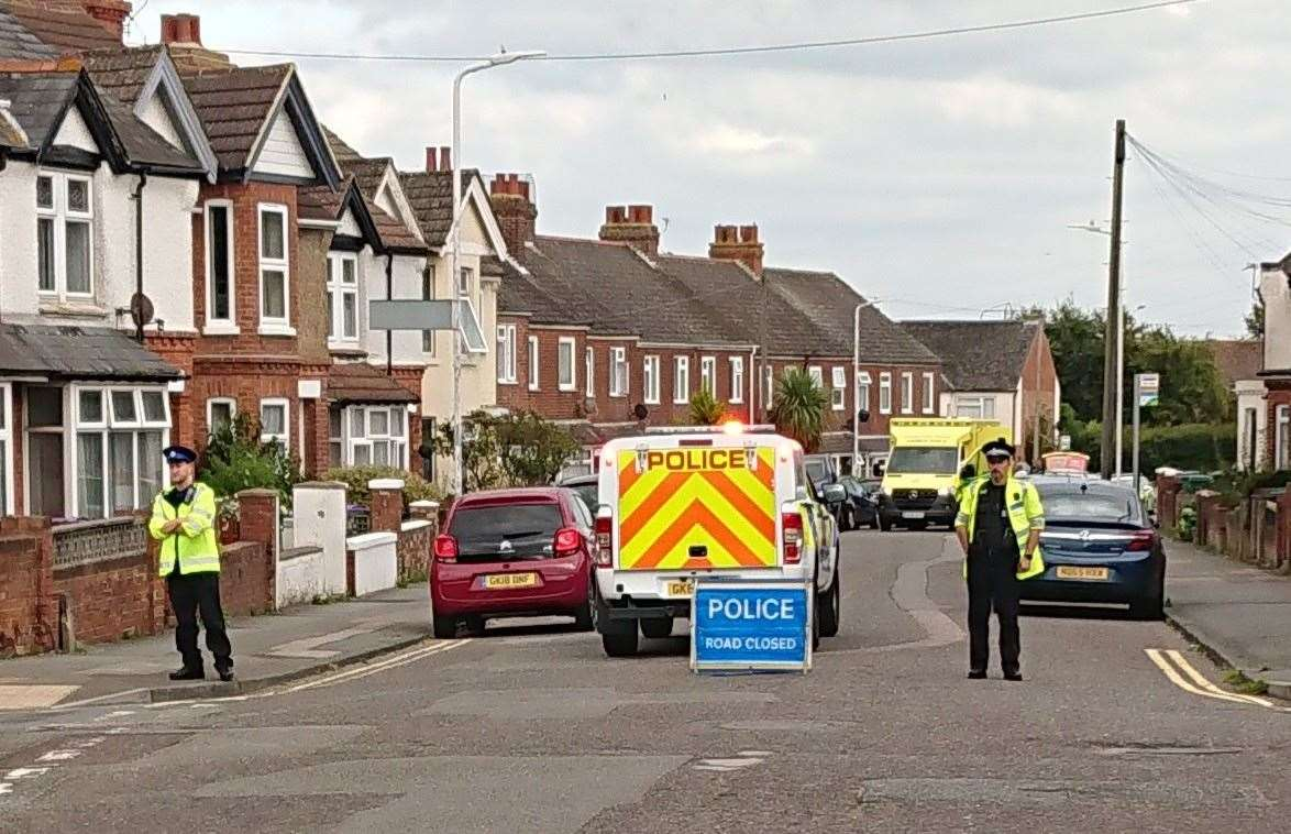 Church Road was closed following the collision