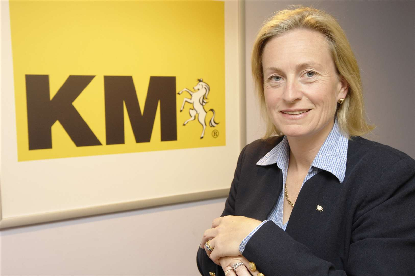 KM Media Group chairman Geraldine Allinson who steps down on Friday