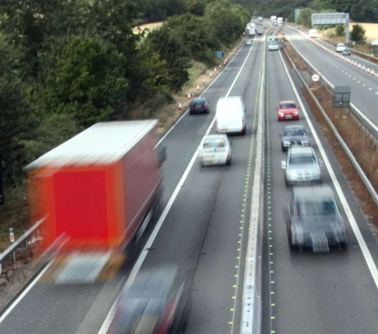 The crash happened on the M2. Stock picture: Darren Small