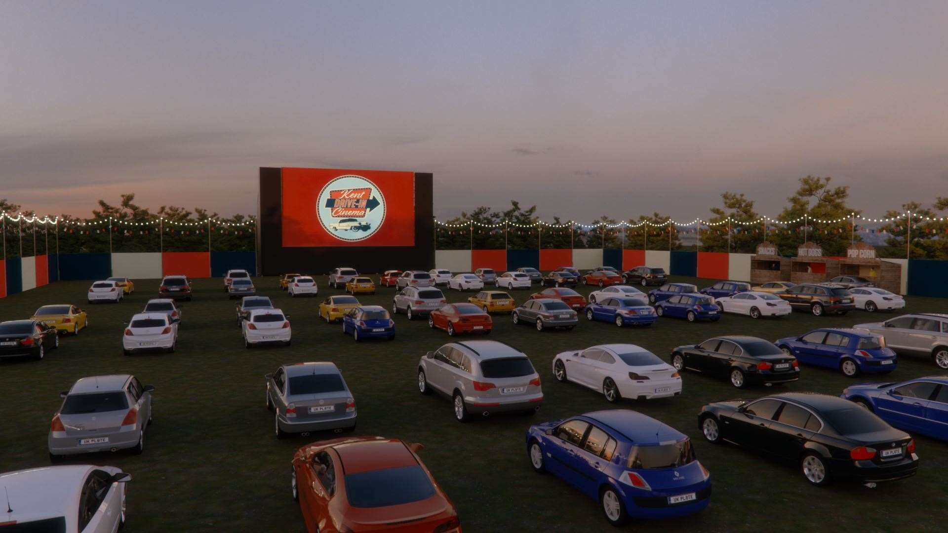 How the drive-in cinemas are expected to look