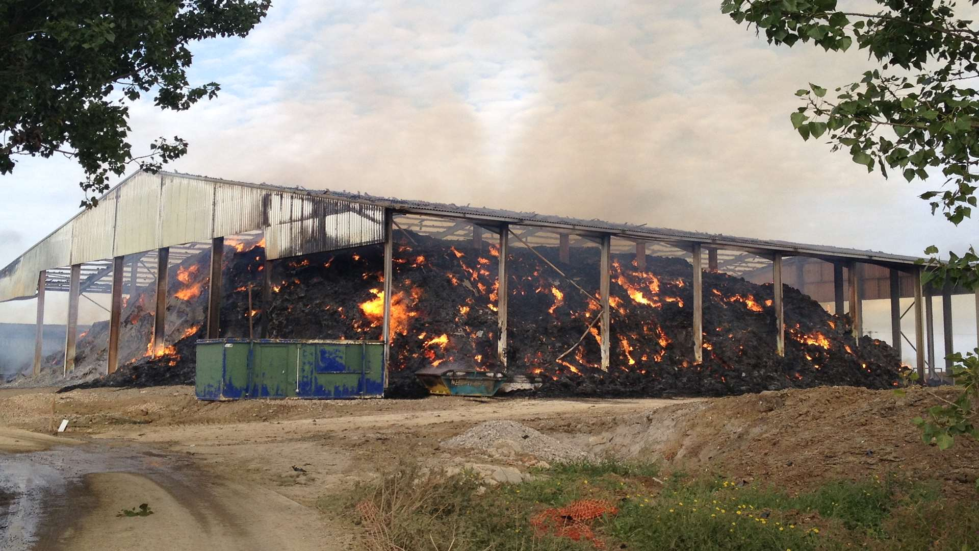 The barn blaze in Lower Road, Minster, on the Isle of Sheppey