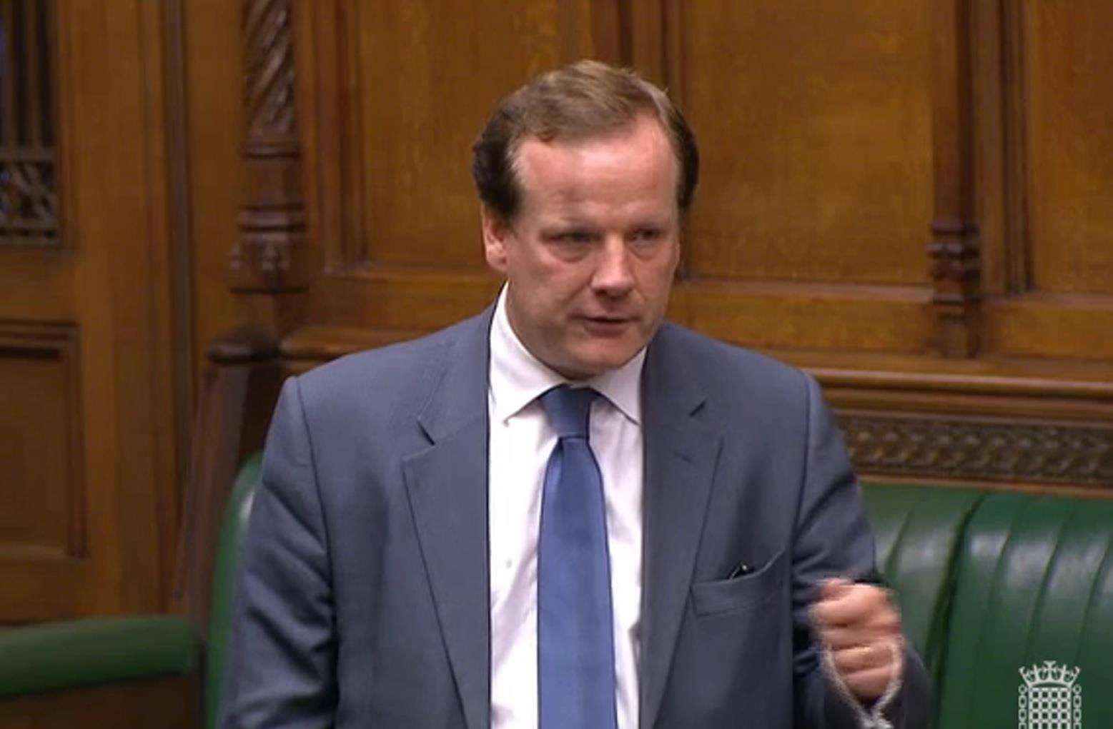 "Charlie Elphicke: ""Hugely frustrated"" by Mr Sankara Gounder having to leave. Picture: Office of Charlie Elphicke MP"