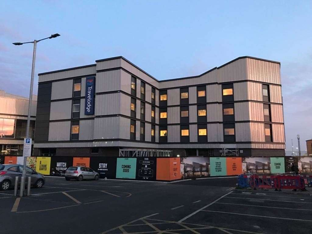 The new Travelodge in Sittingbourne is set to open at the end of February