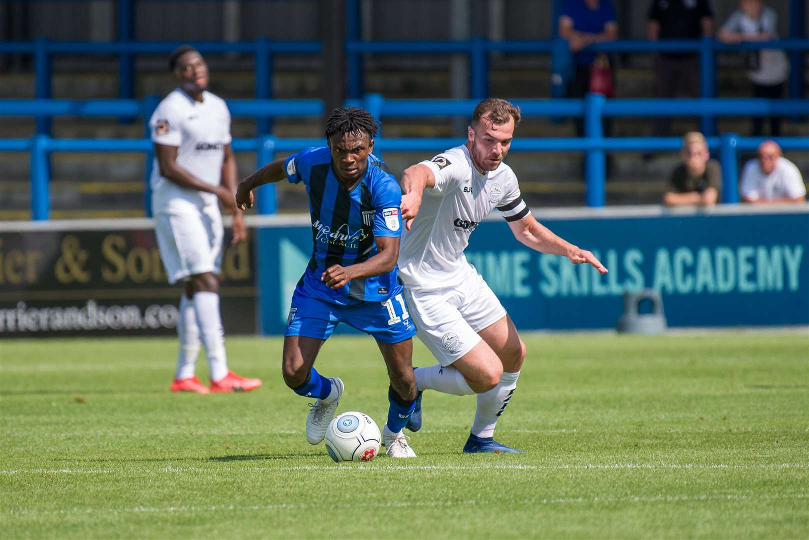 Regan Charles-Cook in action for Gillingham at Dover in pre-season Picture: Alan Langley